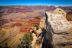 View of the Grand Canyon South Rim Stock Photo