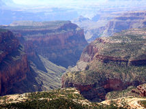 View of the Grand Canyon from Timp Point. Looking into the canyon Stock Images