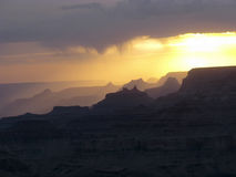 View into the grand canyon from Yaki point, south rim Royalty Free Stock Photography
