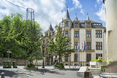 View of Grand Ducal Palace in Luxembourg City Royalty Free Stock Photos