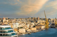 View of Grand Harbour. Valletta. Malta Stock Photography