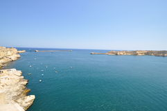 View of the Grand Harbour of Valletta. Stock Image