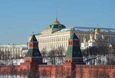View of the Grand Kremlin Palace Stock Photography
