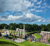 View from Grand Peterhof Palace to Lower park with fountains, go Royalty Free Stock Photos