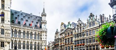 Grand Place of Bruxelles - Belgium. View on Grand Place of Bruxelles - Belgium stock images