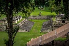 View of Grand Plaza in Mayan Ruins - Copan Archaeological Site, Honduras. View of Grand Plaza in Mayan Ruins in Copan Archaeological Site, Honduras stock image