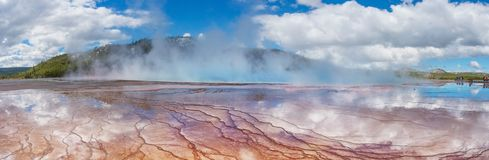 View of the Grand Prismatic Spring in in Yellowstone National Pa. Rk.USA royalty free stock photo
