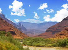 A View of Grand Valley in Utah Royalty Free Stock Images