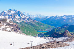 View from the Grande Motte glacier Stock Photos