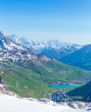 View from the Grande Motte glacier at Tignes Stock Image
