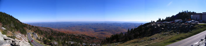 View from Grandfather Mountain Royalty Free Stock Image