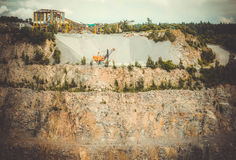 View of the granite quarry Stock Images