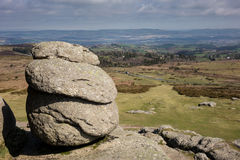 View from the granite slopes of Haytor Rocks Stock Images