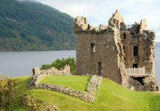 A view of Grant Hall. Urquhart castle, Loch Ness, Highlands, Scotland, U.K Royalty Free Stock Photos