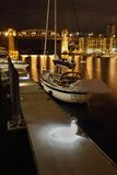 Granville Island Night Moorage, Vancouver Royalty Free Stock Images