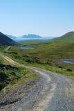 View of grassy island Soroya. Stock Photography