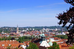 View on Graz from Schlossberg. Graz is the second-largest city in Austria after Vienna and the capital of the federal state of Styria (Steiermark Stock Photography