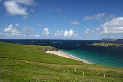 View from Great Blasket Island. Next stop: Iceland!. This is the view, roughly north by northwest, from Great Blasket Island - overlooking Beginish Island and a royalty free stock images
