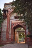 View of the great Bu Halima gateway in Delhi royalty free stock image