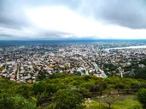 View from a great height of a city Royalty Free Stock Image