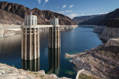 View of the great Hoover Dam in Nevada, USA Stock Images