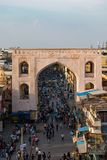The view from the great icon of the hyderabad charminar royalty free stock photos