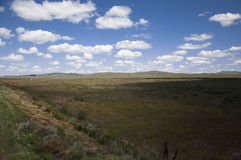 View of great kazakh steppe Stock Photo