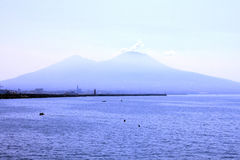 The view on the great Mount Vesuvius, Italy. Royalty Free Stock Image