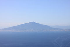 The view on the great Mount Vesuvius, Naples, Italy. Stock Photography