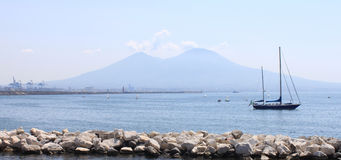 The view on the great Mount Vesuvius, Naples, Italy. Royalty Free Stock Photo