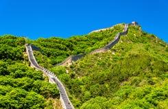 View of the Great Wall at Badaling - China. View of the Great Wall at Badaling - Beijing, China stock image