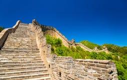 View of the Great Wall at Badaling - China. View of the Great Wall at Badaling - Beijing, China Royalty Free Stock Photo