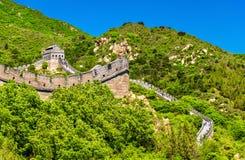 View of the Great Wall at Badaling - China. View of the Great Wall at Badaling - Beijing, China royalty free stock photography