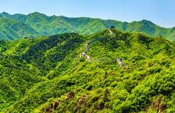 View of the Great Wall at Badaling - China. View of the Great Wall at Badaling - Beijing, China stock photo