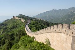 View of the Great Wall of China stock images