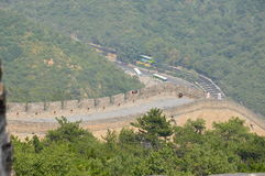 View from the Great Wall of China. View from the tower on the Great Wall Stock Photos