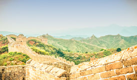View on great wall by jinshanling Stock Photo