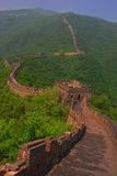 View of Great Wall at Mutianyu. From High Up stock images