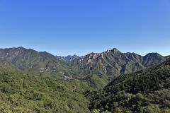 View from the Great Wall at Mutianyu Royalty Free Stock Photography