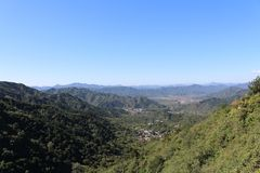 View from the Great Wall at Mutianyu Royalty Free Stock Photos