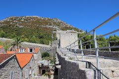 View of Great Wall, Ston. View of Great Wall that surrounds the city Ston Stock Photography