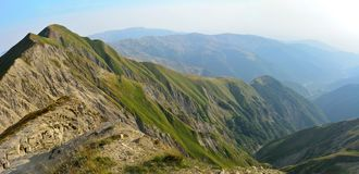 View of the Greater Caucasus mountains from Mountain Babadag tra Stock Image