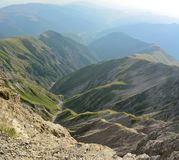 View of the Greater Caucasus mountains from Mountain Babadag tra Royalty Free Stock Images
