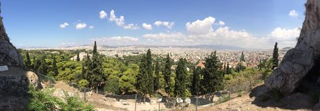 View in Greece. The view from acropolis in Athens Royalty Free Stock Photography