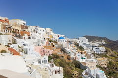View at the Greek Aegean island, Santorini Stock Photography