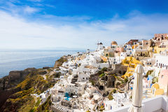 View of Greek city Oia Stock Images