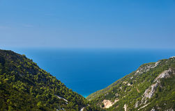 View from the Greek island of Lefkada Stock Image