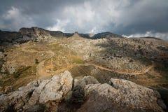 View of Greek mountains in Crete. Royalty Free Stock Photos