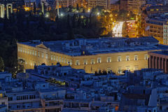 View of the greek parliament, Athens Greece Royalty Free Stock Photography
