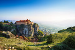 The view on Greek Varlaam Monastery Stock Images